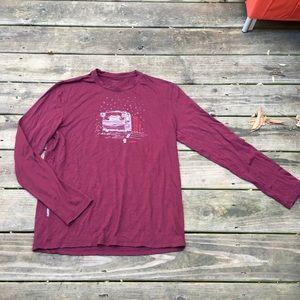 Icebreaker Merino Maroon Wine L/S Tee T-Shirt M